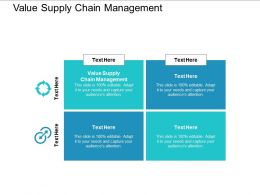 Value Supply Chain Management Ppt Powerpoint Presentation Styles Slide Cpb