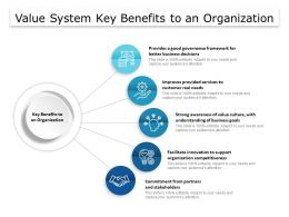 Value System Key Benefits To An Organization