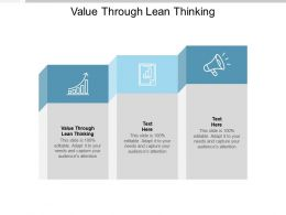 Value Through Lean Thinking Ppt Powerpoint Presentation File Visuals Cpb