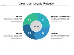 Value User Loyalty Retention Ppt Powerpoint Presentation Gallery Rules Cpb