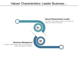 Valued Characteristics Leader Business Management List Managers Cpb