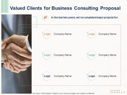 Valued Clients For Business Consulting Proposal Ppt Powerpoint Layouts