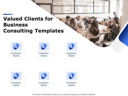 Valued Clients For Business Consulting Templates Ppt Powerpoint Presentation Summary