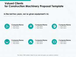 Valued Clients For Construction Machinery Proposal Template Ppt Powerpoint Presentation Infographic Template