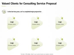 Valued Clients For Consulting Service Proposal Ppt Powerpoint Presentation Slides Display