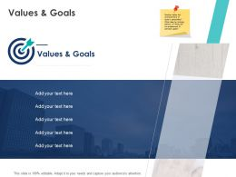 Values And Goals F50 Ppt Powerpoint Presentation Professional Background Designs