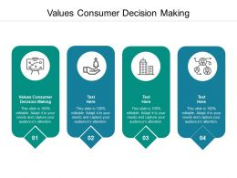 Values Consumer Decision Making Ppt Powerpoint Presentation Icon Background Images Cpb