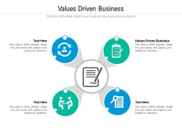 Values Driven Business Ppt Powerpoint Presentation Summary Guide Cpb