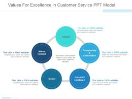 Values For Excellence In Customer Service Ppt Model