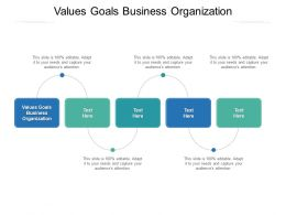 Values Goals Business Organization Ppt Powerpoint Presentation Icon Grid Cpb