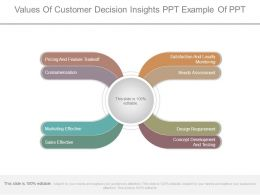 Values Of Customer Decision Insights Ppt Example Of Ppt