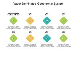 Vapor Dominated Geothermal System Ppt Powerpoint Presentation Infographics Sample Cpb