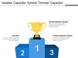 Variable Capacitor Symbol Trimmer Capacitor Symbol Realistic Profile
