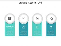 Variable Cost Per Unit Ppt Powerpoint Presentation File Layouts Cpb