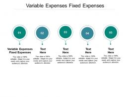 Variable Expenses Fixed Expenses Ppt Powerpoint Presentation Infographic Template Cpb