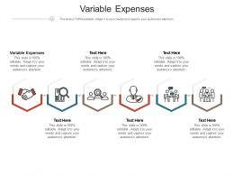 Variable Expenses Ppt Powerpoint Presentation Styles Elements Cpb