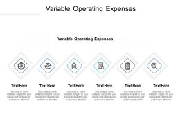 Variable Operating Expenses Ppt Powerpoint Presentation Model Picture Cpb