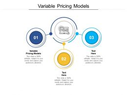 Variable Pricing Models Ppt Powerpoint Presentation Outline Layouts Cpb