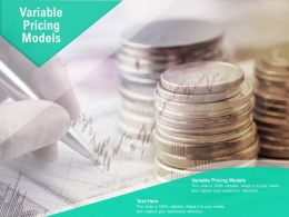 Variable Pricing Models Ppt Powerpoint Presentation Slides Ideas Cpb