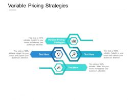 Variable Pricing Strategies Ppt Powerpoint Presentation Model Example Cpb