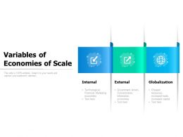 Variables Of Economies Of Scale