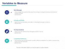 Variables To Measure Intentions Ppt Powerpoint Presentation Summary Graphics Template