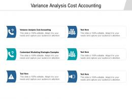 Variance Analysis Cost Accounting Ppt Powerpoint Presentation Model Structure Cpb