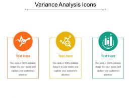 Variance Analysis Icons