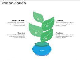 Variance Analysis Ppt Powerpoint Presentation Ideas Show Cpb