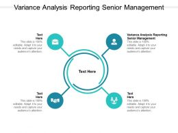 Variance Analysis Reporting Senior Management Ppt Powerpoint Presentation Gallery Topics Cpb