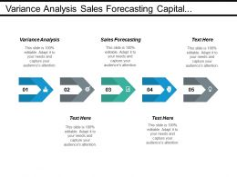 Variance Analysis Sales Forecasting Capital Budgeting Promotional Campaigns Cpb