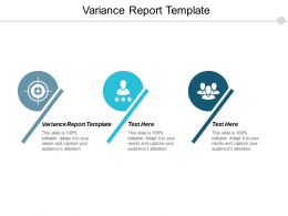Variance Report Template Ppt Powerpoint Presentation Pictures Graphic Images Cpb