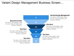 Variant Design Management Business Screen Strategy Development Industry Analysis