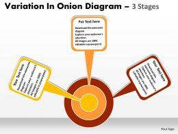 Variation In Onion diagram 3 Stages