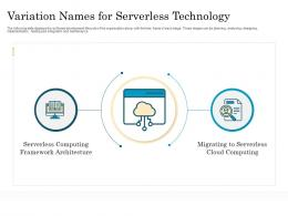 Variation Names For Serverless Technology Migrating To Serverless Cloud Computing