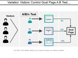 Variation Visitors Control Goal Page A B Test With Arrows
