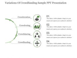 Variations Of Crowdfunding Sample Ppt Presentation