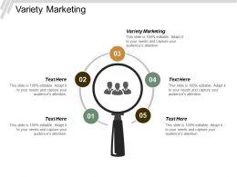 Variety Marketing Ppt Powerpoint Presentation Portfolio Background Designs Cpb