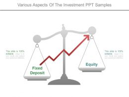 Various Aspects Of The Investment Ppt Samples