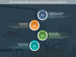 Various Benefits Of Annual Performance Review