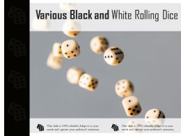 Various Black And White Rolling Dice