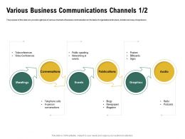 Various Business Communications Channels L1989 Ppt Powerpoint Template Graphics Example