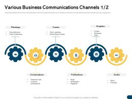 Various Business Communications Channels M1728 Ppt Powerpoint Presentation Model Ideas