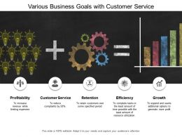 Various Business Goals With Customer Service