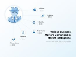 Various Business Matters Comprised In Market Intelligence
