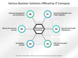 Various Business Solutions Offered By It Company