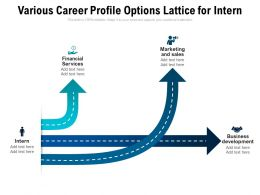 Various Career Profile Options Lattice For Intern