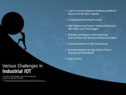 Various Challenges In Industrial Iot
