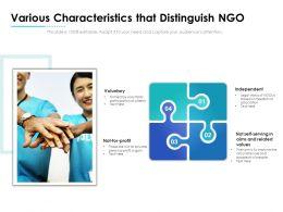 Various Characteristics That Distinguish NGO