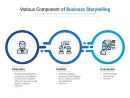 Various Component Of Business Storytelling